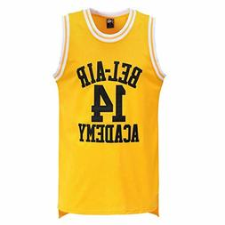 MOLPE Smith 14 Bel Air Academy Yellow Basketball Jersey S-XX