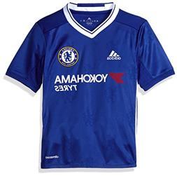 adidas Soccer Chelsea Youth Jersey, Large, Blue/White