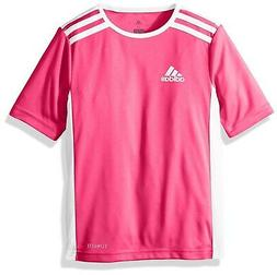 adidas Soccer Entrada 18 Jersey, Shock Pink/White, Small