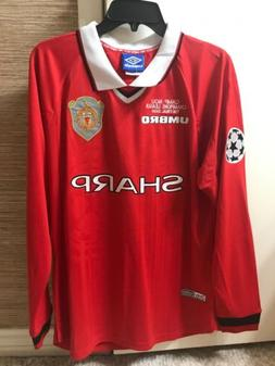 Umbro Soccer Football Jersey Manchester United 1999 UEFA Cha