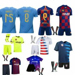 Soccer Football Outfit Kids Adult Club Jersey Strips Sports