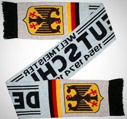 Germany Deutschland Soccer Knit Warm Scarf White Football Fa