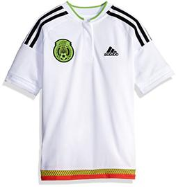 Adidas Soccer Youth Mexico jersey, Small, White/black
