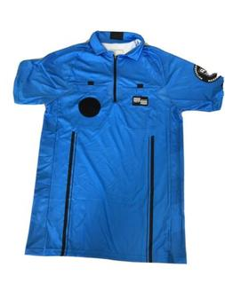 Soccer Official Sports Referee USSF Soccer Jersey BLUE New w