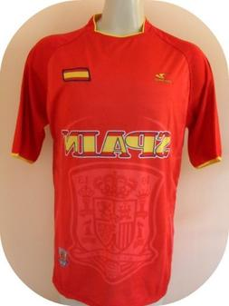"SPAIN SOCCER JERSEY SIZE LARGE .NEW"" CHAMPIONS WORLD CUP 201"