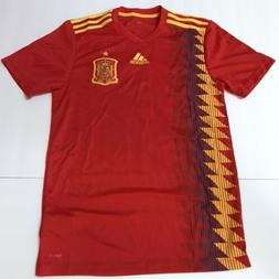 adidas SPAIN soccer jersey Russia 2018 Red Blue Stadium Size