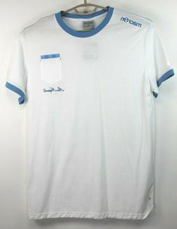 SSC NAPOLI Mens Macron Jersey White w/Light Blue Accents Che