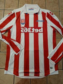 Stoke City 16/17 Home Replica Blank Jersey LS Macron NWT Whi