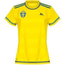 adidas Sweden Home Jersey 2015 2016 Womens Yellow Football S