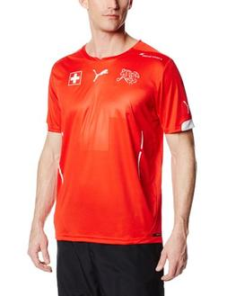 Puma Men's Switzerland Home Soccer Jersey, Puma Red, Medium