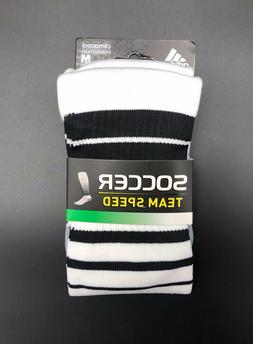adidas Team Speed Soccer Sock, White/Black, Medium