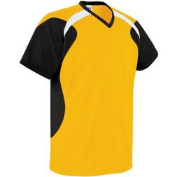 High Five Tempest Jersey, Athletic Gold/Black/White, Youth S