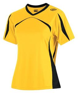 Girl's Xara Trafford Shirt, Gold/Black - Youth Large