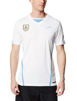 Puma Men's Uruguay Away Replica Soccer Jersey, White, Large