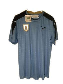 Puma Uruguay Home Replica Shirt Silver Lake Blue-black Size