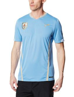 Puma Men's Uruguay Home Replica Soccer Jersey, Silver Lake,