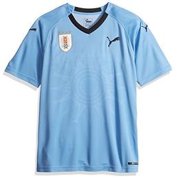 PUMA Men's Uruguay Replica Jersey, Home Silver Lake Blue Bla