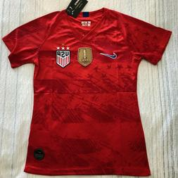 USA USWNT Away Soccer Player version Jersey with 4 stars - F