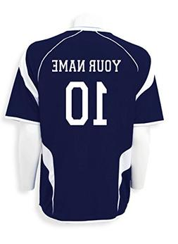 USA Soccer Jersey - customized with name, number - color nav