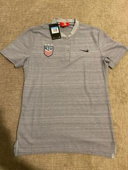 NIKE USA SOCCER POLO - Player Issue USWNT Shirt Jersey US Me
