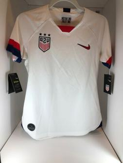 Nike USA USWNT Womens Star Soccer Jersey Size S Slim Fit Whi
