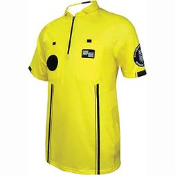Official Sports New USSF Men's Pro Soccer Referee Yellow SS