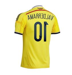 Adidas VALDERRAMA #10 Colombia Home Jersey World Cup 2014
