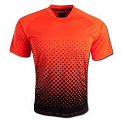 Vizari Ventura Short Sleeve Goalkeeper Jersey, Neon Orange/B