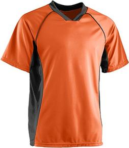Wicking Soccer Jersey - ORANGE BLACK - X-LARGE