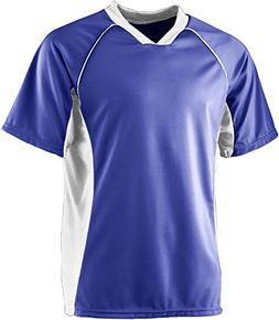 Wicking Soccer Jersey - PURPLE WHITE - LARGE