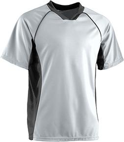 Augusta Sportswear MEN'S WICKING SOCCER SHIRT XL Silver Blac