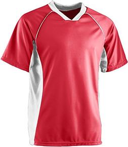Wicking Soccer Jersey - RED WHITE - SMALL