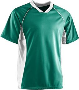 Wicking Soccer Jersey - GREEN WHITE - MEDIUM