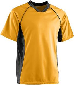 Wicking Soccer Jersey - GOLD BLACK - 2XL