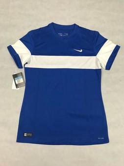 NIKE WOMENS MEDIUM UNITE SOCCER JERSEY BLUE/WHITE SHIRT 6455