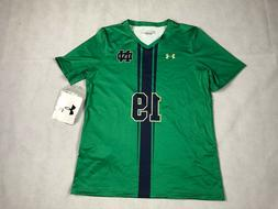 UNDER ARMOUR WOMENS SMALL NOTRE DAME SS V-NECK SOCCER JERSEY
