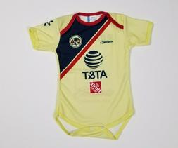 yellow club america baby soccer jersey bodysuit
