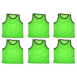 BlueDot Trading Youth 6 Green sports pinnies- 6 scrimmage tr