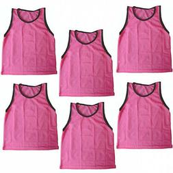 BlueDot Trading Youth 6 Pink sports pinnies- 6 scrimmage tra