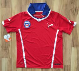 YOUTH KIDS BOYS Puma Chile World Cup National Soccer Home Te