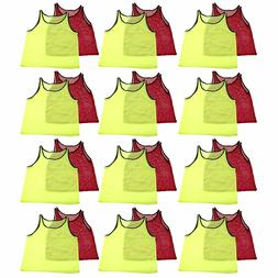 YOUTH Scrimmage Practice Jerseys Team Pinnies Sports Vest fo
