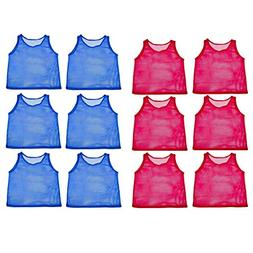 Adorox 24 Pack Youth Scrimmage Practice Jerseys Team Pinnies