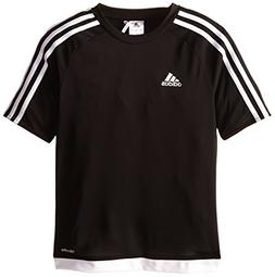 adidas Youth Soccer Estro Jersey, Black/White, X-Large